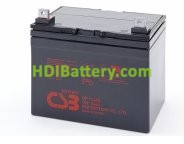 Batería para UPS-SAI 12v 34Ah plomo AGM GP12340 CSB